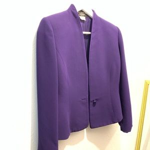 Jones New York Evening Purple Blazer 8 Petite